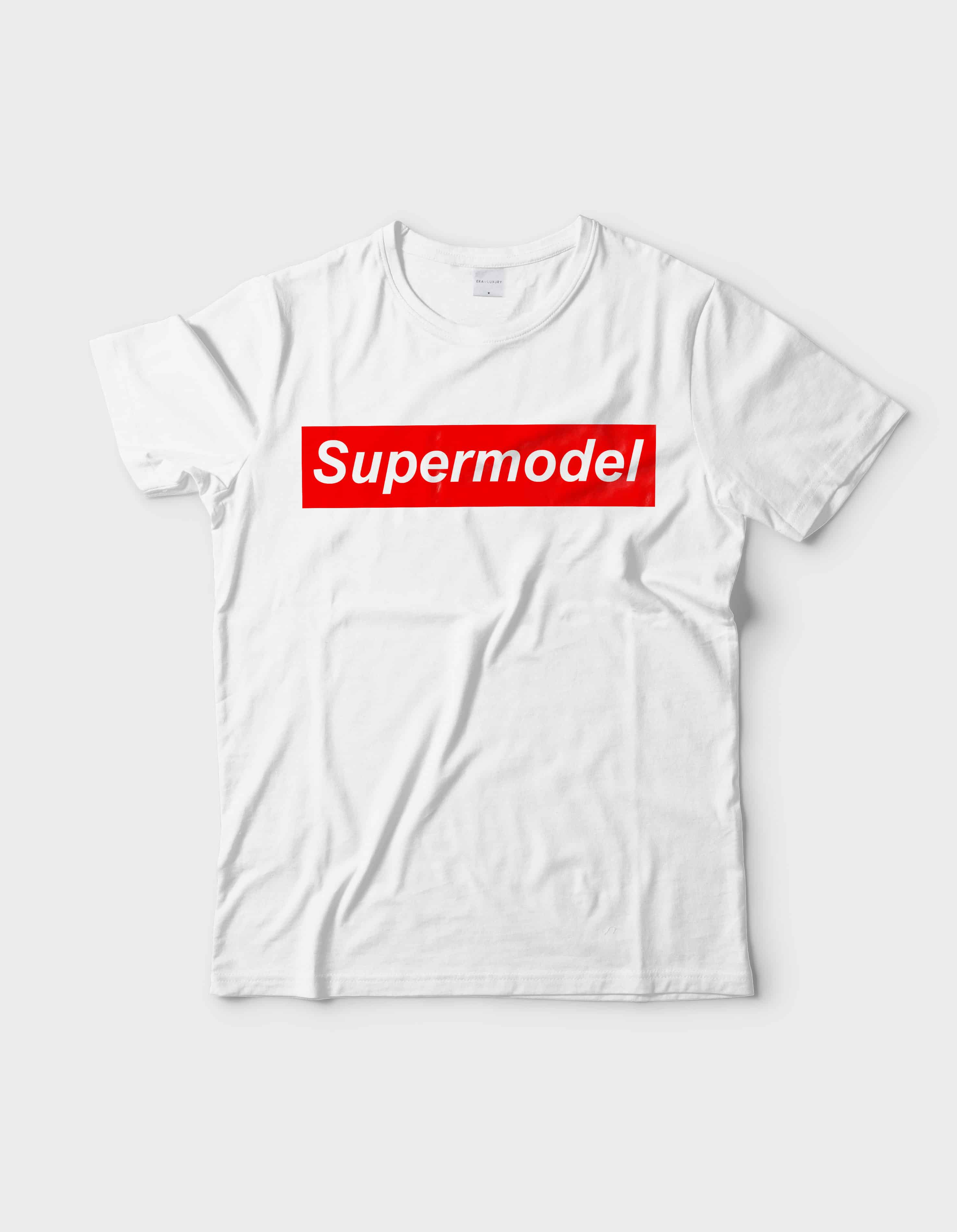 Supermodel Graphic White tee