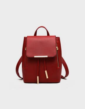 top-handle-backpack-red